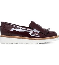 Kg By Kurt Geiger Kooper Patent Leather Loafers Wine