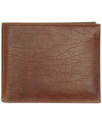 Tasso Elba Buff Tan Double Bifold Wallet