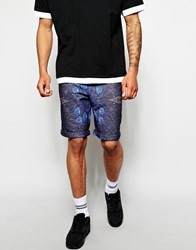 The Cuckoo's Nest The Cuckoos Nest Shorts With Hive Print Blue