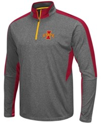 Colosseum Men's Iowa State Cyclones Atlas Quarter Zip Pullover Charcoal Cardinal Red