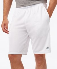 Champion Men's Powertrain Double Dry Tech Shorts White