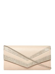 Dorothy Perkins Nude Panel Clutch Bag White