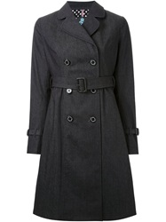 Guild Prime Denim Trench Coat Black