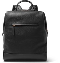 Globe Trotter Grained Leather Backpack Black
