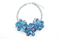 James Lakeland 3D Glass Floral Necklace