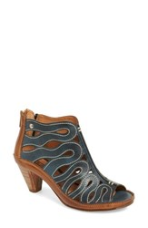 Women's Pikolinos 'Java' Cutout Sandal Ocean Leather
