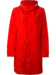 Mackintosh Buttoned Up Raincoat Red