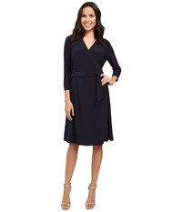 Nic Zoe Luxe Jersey Wrap Dress Midnight Women's Dress Navy