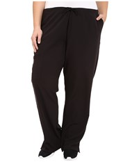 Jockey Plus Size Front Drawstring Pants Black Women's Casual Pants