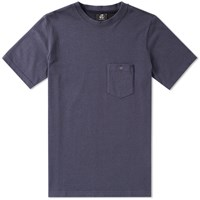 Paul Smith Twisted Marl Pocket Tee Blue