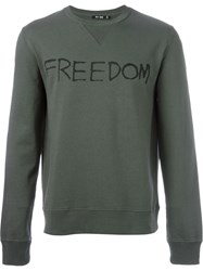 Blk Dnm 'Freedom' Sweatshirt Green