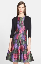 Women's Oscar De La Renta Cashmere And Silk Bolero Black