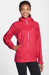 Women's Columbia 'Evapouration' Modern Classic Fit Packable Waterproof Rain Jacket Red Hibiscus
