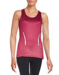 Y.A.S Stripy Racerback Top Beet Red