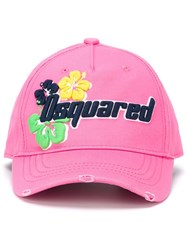 Dsquared2 Logo Baseball Cap Pink And Purple