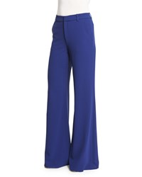 Alice Olivia Paula High Rise Wide Leg Pants Blue Women's Size 0