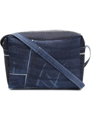 Luisa Cevese Riedizioni Patchwork Shoulder Bag Blue