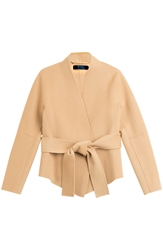 Donna Karan Belted Cashmere Wrap Jacket