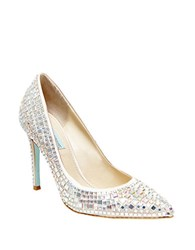 Betsey Johnson Ariel Embellished Pumps Champagne