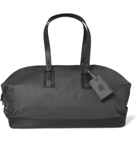Alfred Dunhill Lightweight Leather Trimmed Holdall Bag Gray