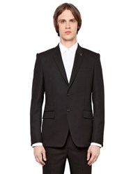 Givenchy Wool Gabardine Jacket With Metal Detail