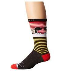 Neff Peek Mickey Sock Red Men's Crew Cut Socks Shoes