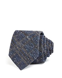 Theory Donegal Textured Check Classic Tie Grey