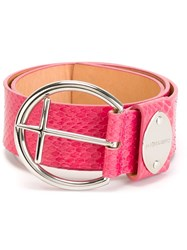 Dsquared2 Textured Belt Pink And Purple
