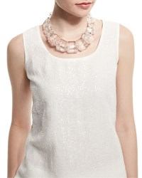 Clear Link Bead Necklace Women's Lafayette 148 New York