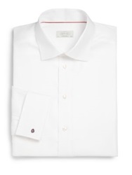 Eton Of Sweden Contemporary Fit French Cuff Twill Dress Shirt White