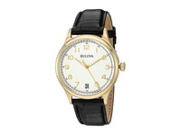 Bulova Classic 97B147 Cream Yellow Gold Watches Black