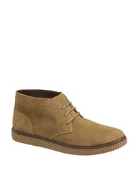 Johnston And Murphy Wallace Water Resistant Suede Chukka Boots Taupe