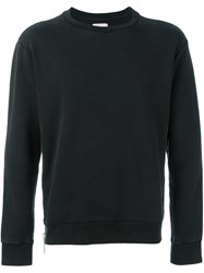 Palm Angels Zip Detail Sweatshirt Black