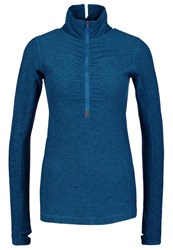 New Balance Long Sleeved Top Blue Mottled Teal