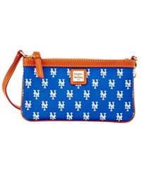 Dooney And Bourke New York Mets Mlb Large Wristlet Blue