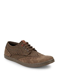 Ben Sherman Nick Canvas Wingtip Sneakers Brown