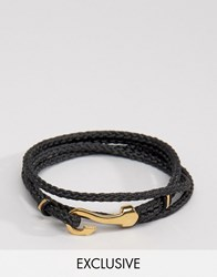 Seven London Hook Bracelet In Black Exclusive To Asos Black