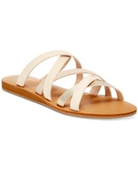 Xoxo Staci Strappy Flat Sandals Women's Shoes Natural