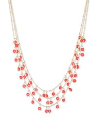 Anne Klein Coral Shaky Bead Necklace