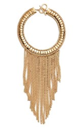 Women's Trina Turk 'Drama' Box Chain Frontal Bib Necklace