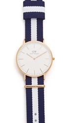 Daniel Wellington Glasgow 40Mm Watch With Nato Strap Rose Gold