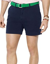 Polo Ralph Lauren Classic Fit Flat Front Chino Shorts Navy