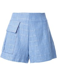Manning Cartell Patch Pocket Striped Shorts Blue
