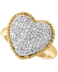Effy Collection Effy Diamond Heart Ring 1 2 Ct. T.W. In 14K Gold Yellow Gold