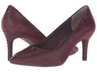 Rockport Total Motion 75Mm Pointy Toe Pump Cabernet Boa Snake High Heels Red