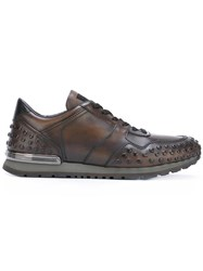 Tod's Studded Sneakers Brown