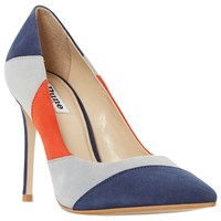Dune Azzra Pointed Toe Stiletto Court Shoes Multi Suede