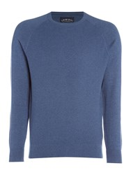 Criminal Keymoor Raglan Crew Neck Jumper Denim Marl