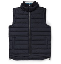 Orlebar Brown Dwight Slim Fit Down Quilted Shell Gilet Blue