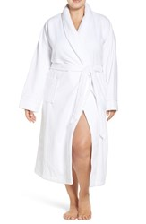 Nordstrom Plus Size Women's Terry Velour Robe White